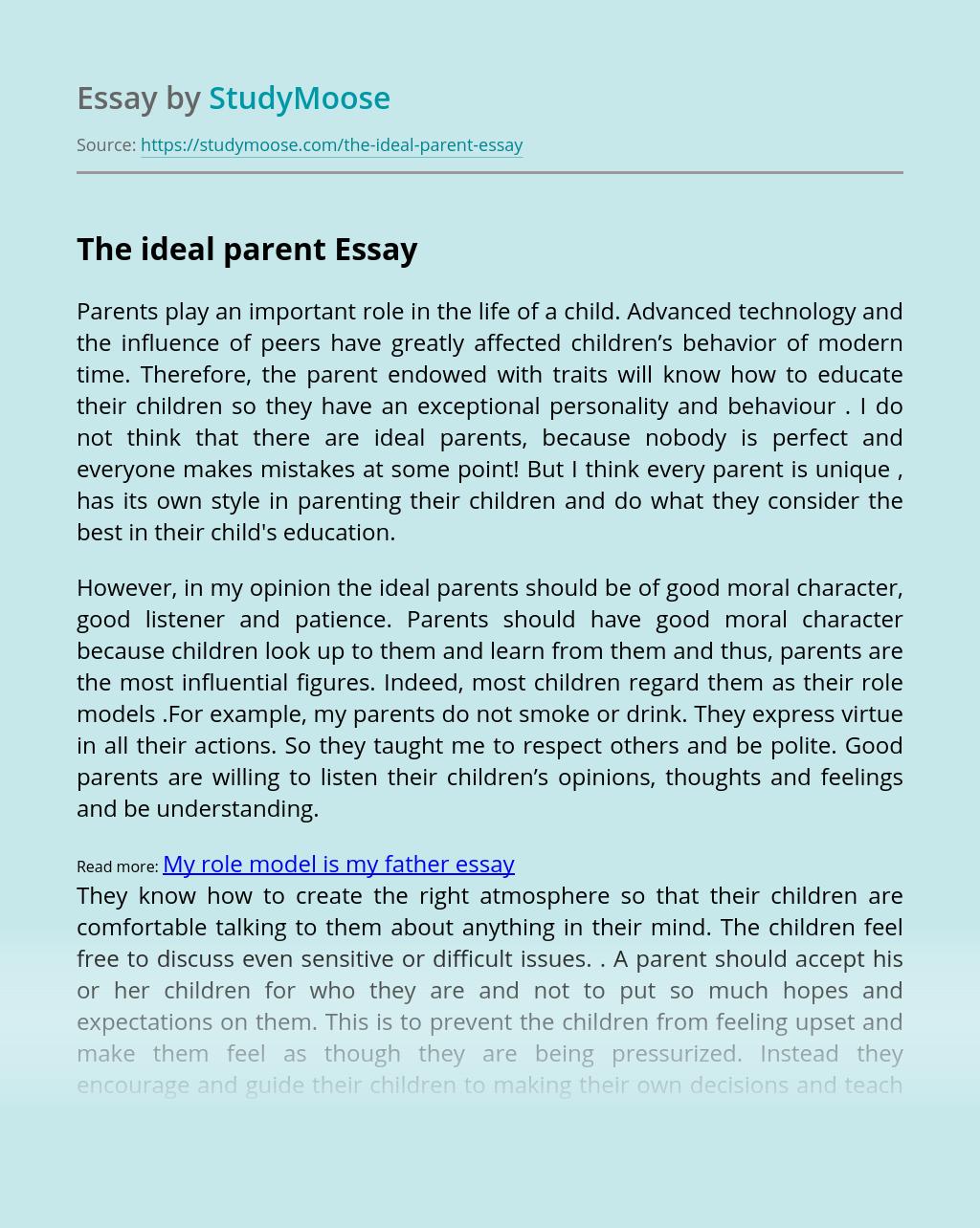 The ideal parent