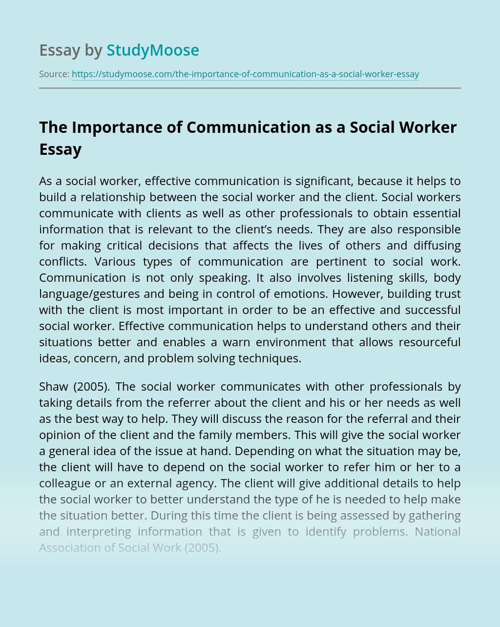 The Importance of Communication as a Social Worker