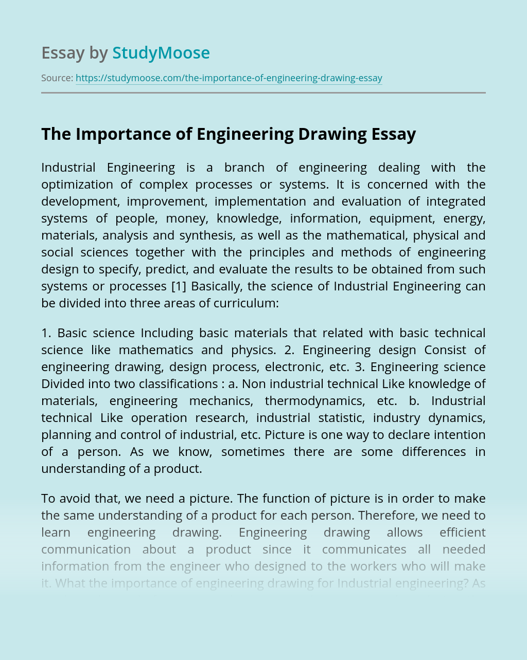 The Importance of Engineering Drawing