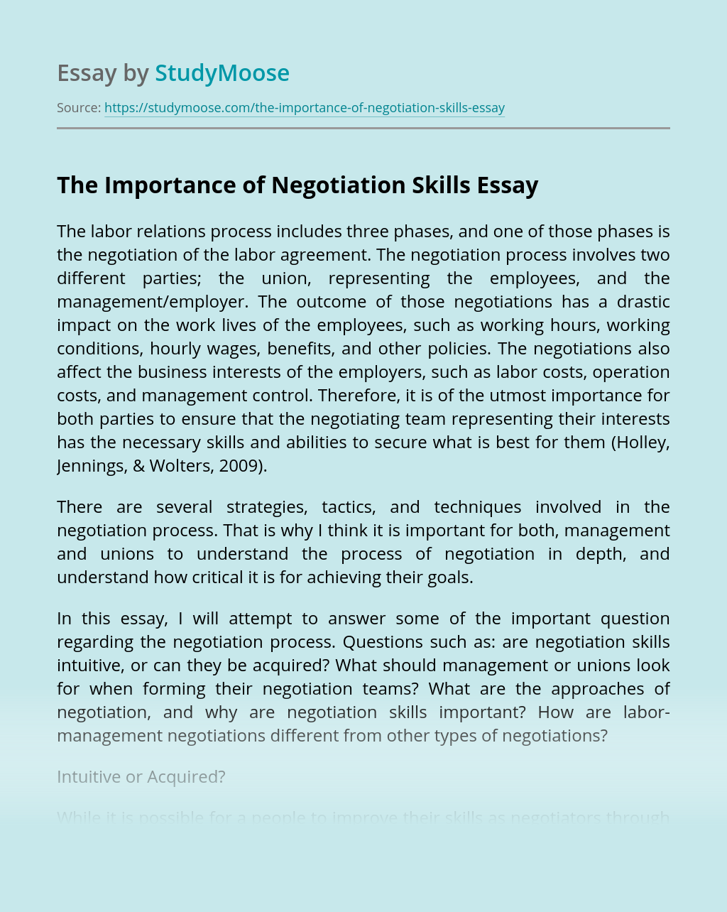 The Importance of Negotiation Skills