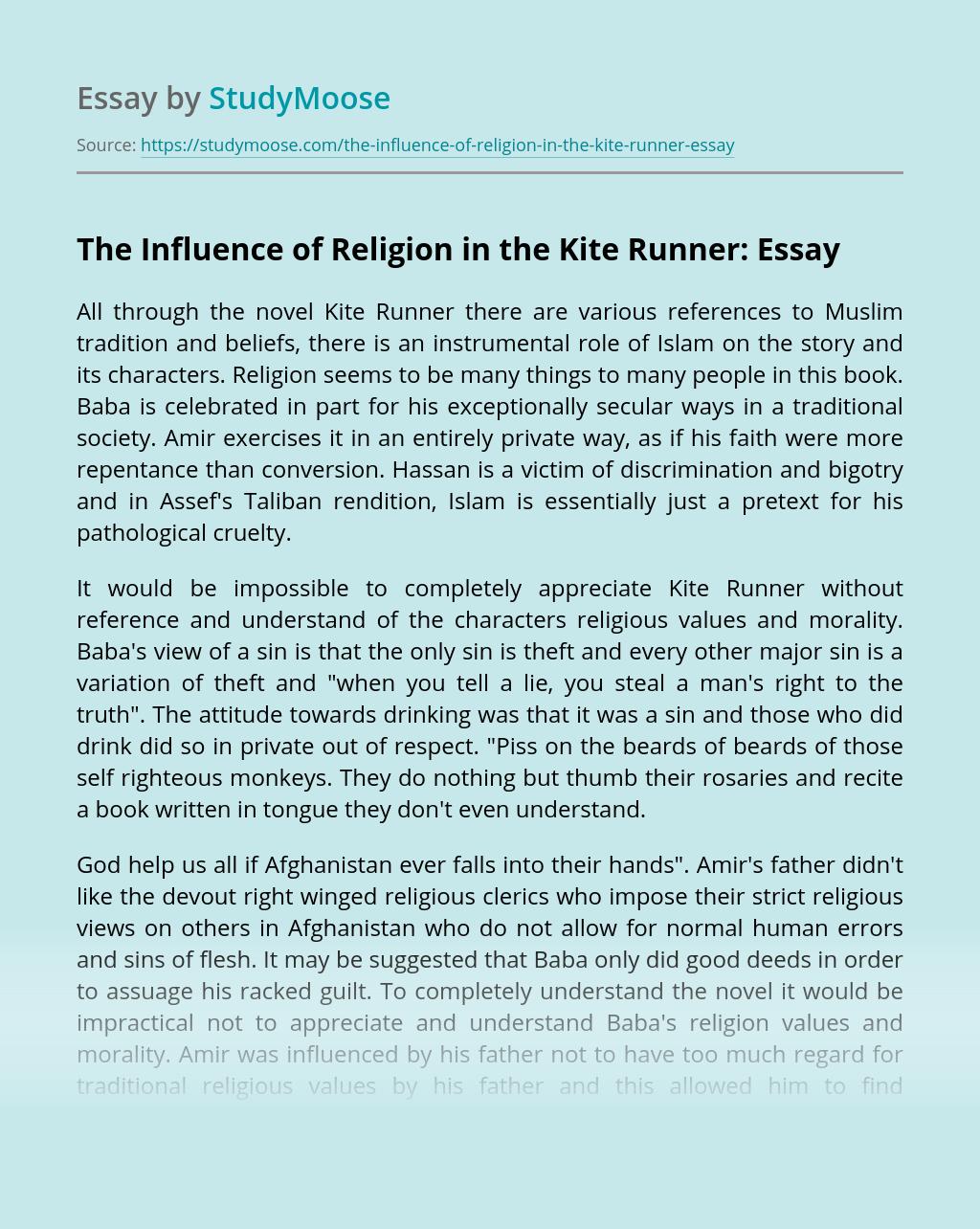 The Influence of Religion in the Kite Runner: