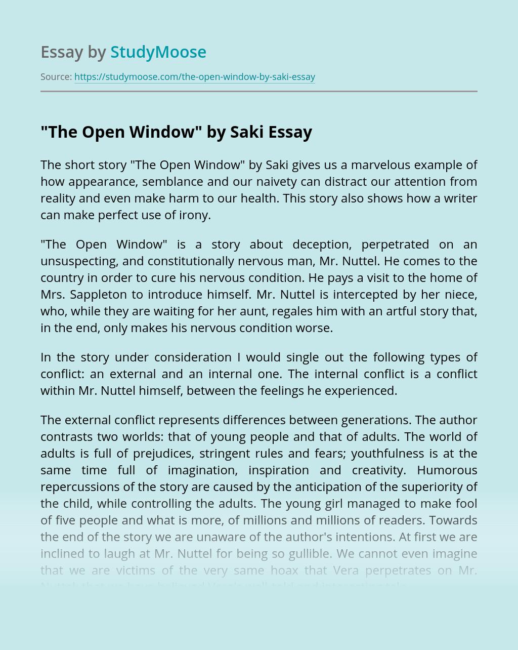 """""""The Open Window"""" by Saki"""