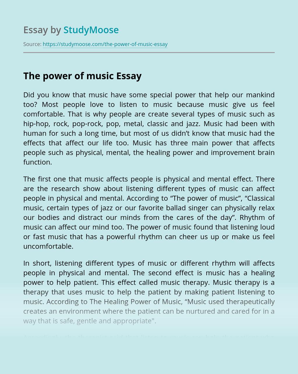 Musics influence essay wang xiaobo essays