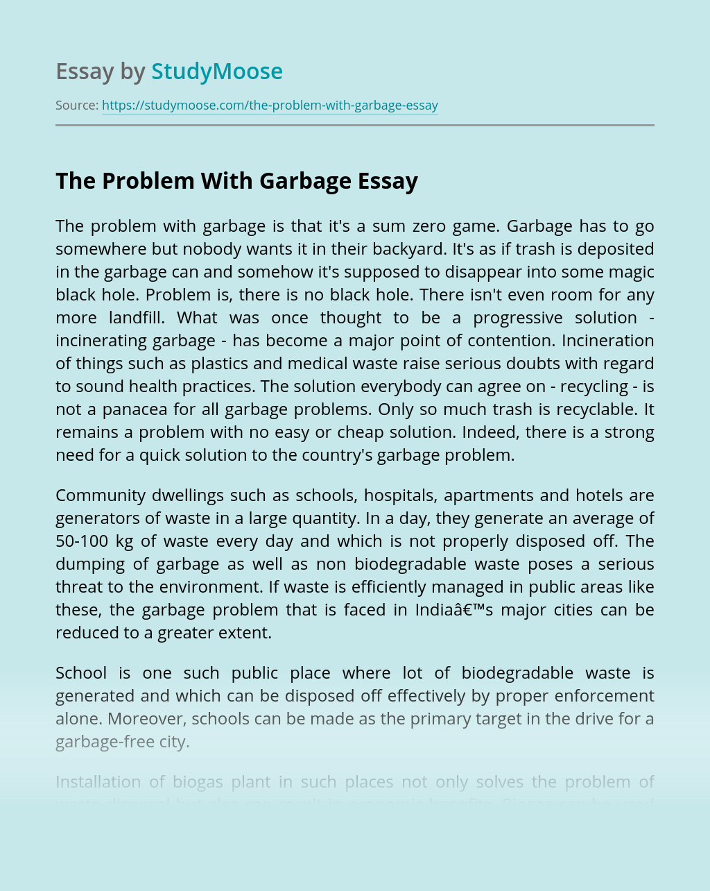 The Problem With Garbage