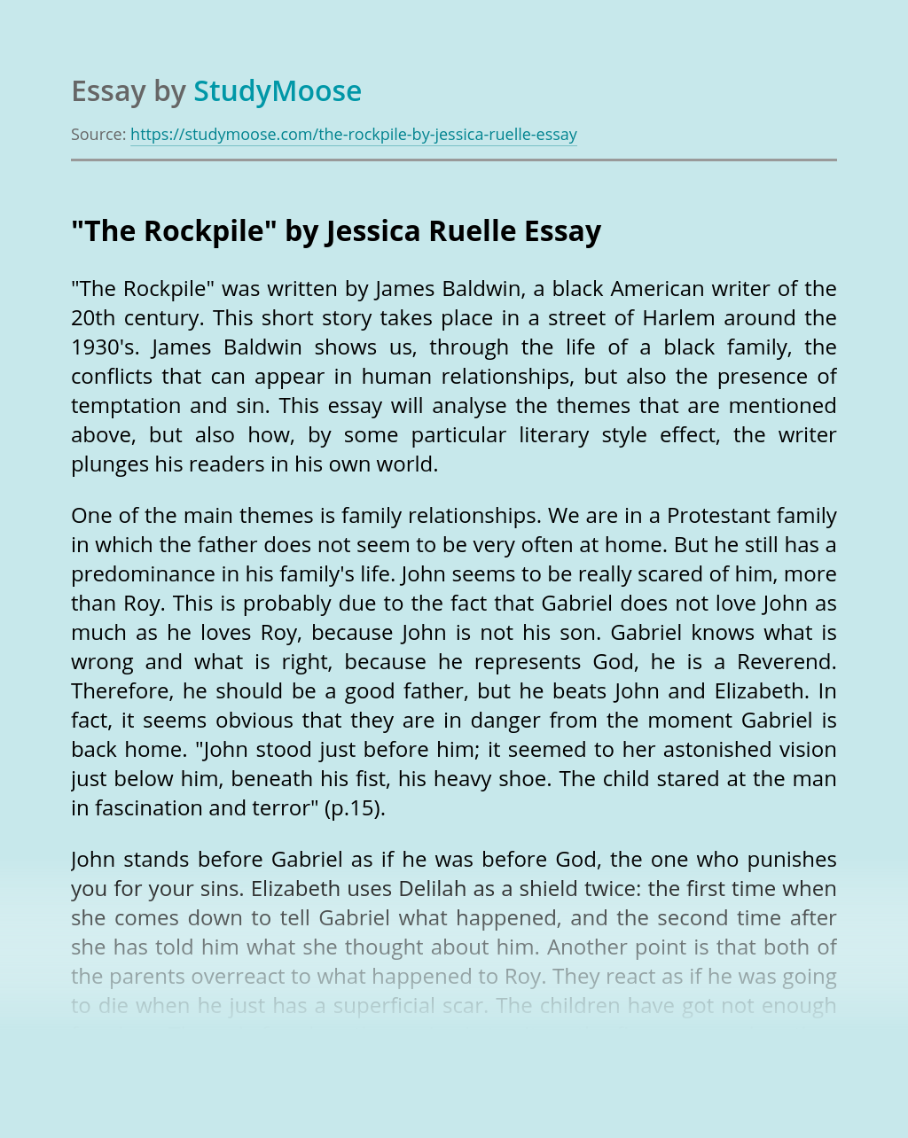 """""""The Rockpile"""" by Jessica Ruelle"""