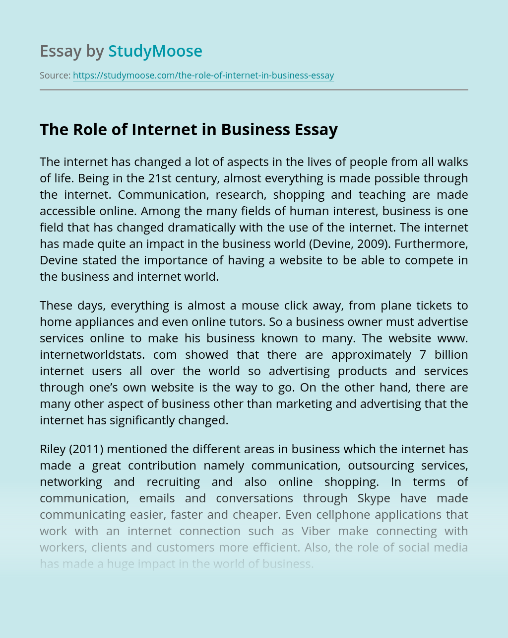 Business Essay