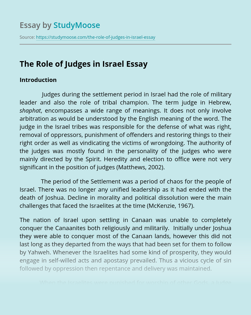 The Role of Judges in Israel