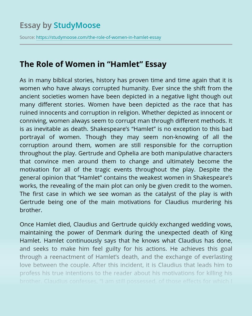 "The Role of Women in ""Hamlet"""