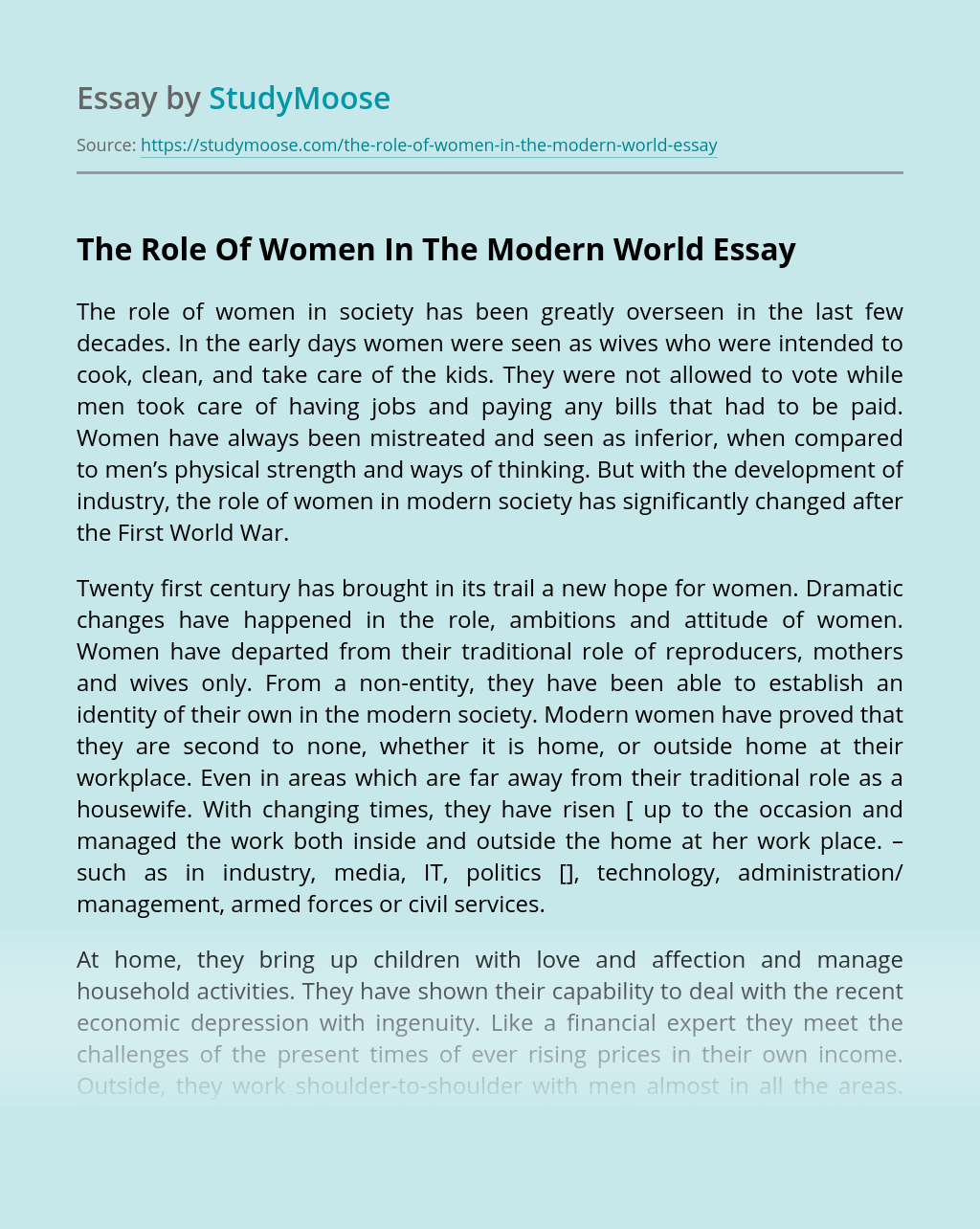 Women roles in society essay write me accounting bibliography