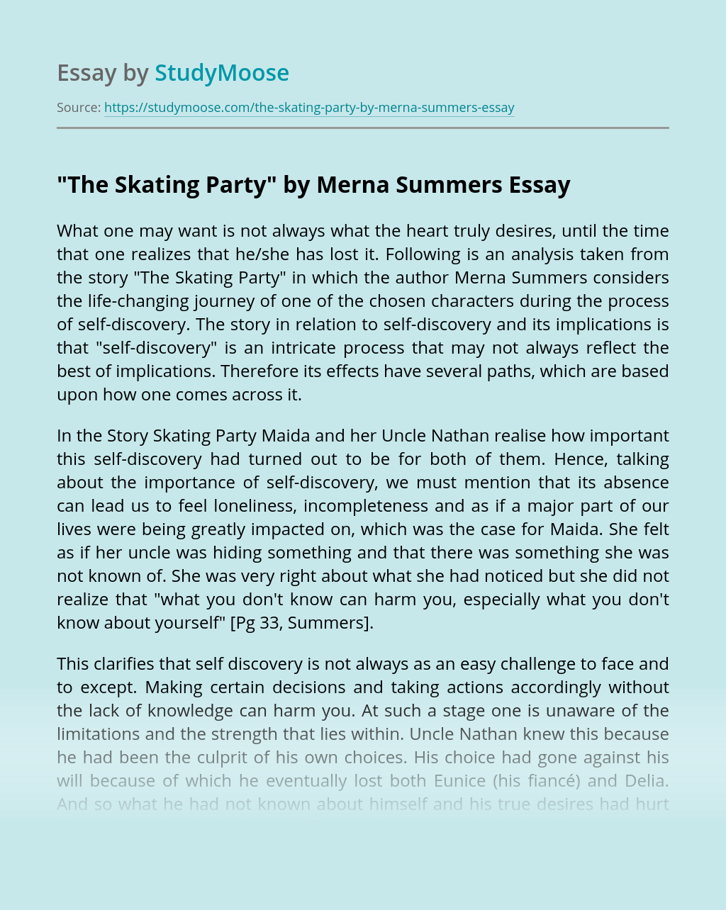 """The Skating Party"" by Merna Summers"