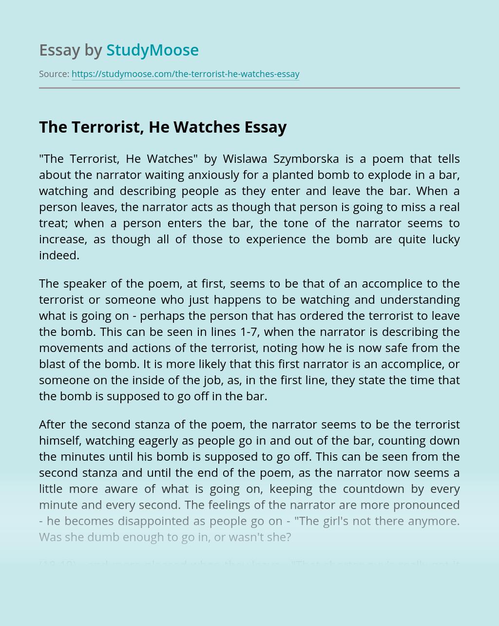 The Terrorist, He Watches
