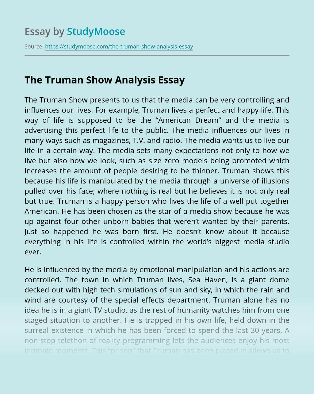The Truman Show Analysis
