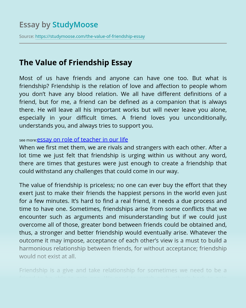 Valuing friendship essay research paper on court reporting