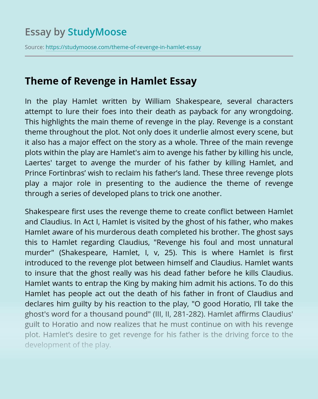 Theme of Revenge in Hamlet