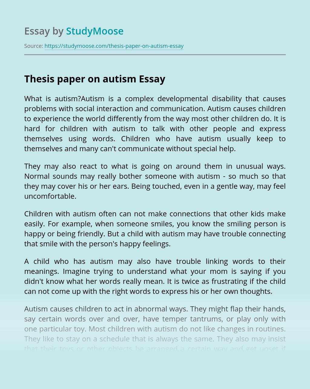 Dissertation autism
