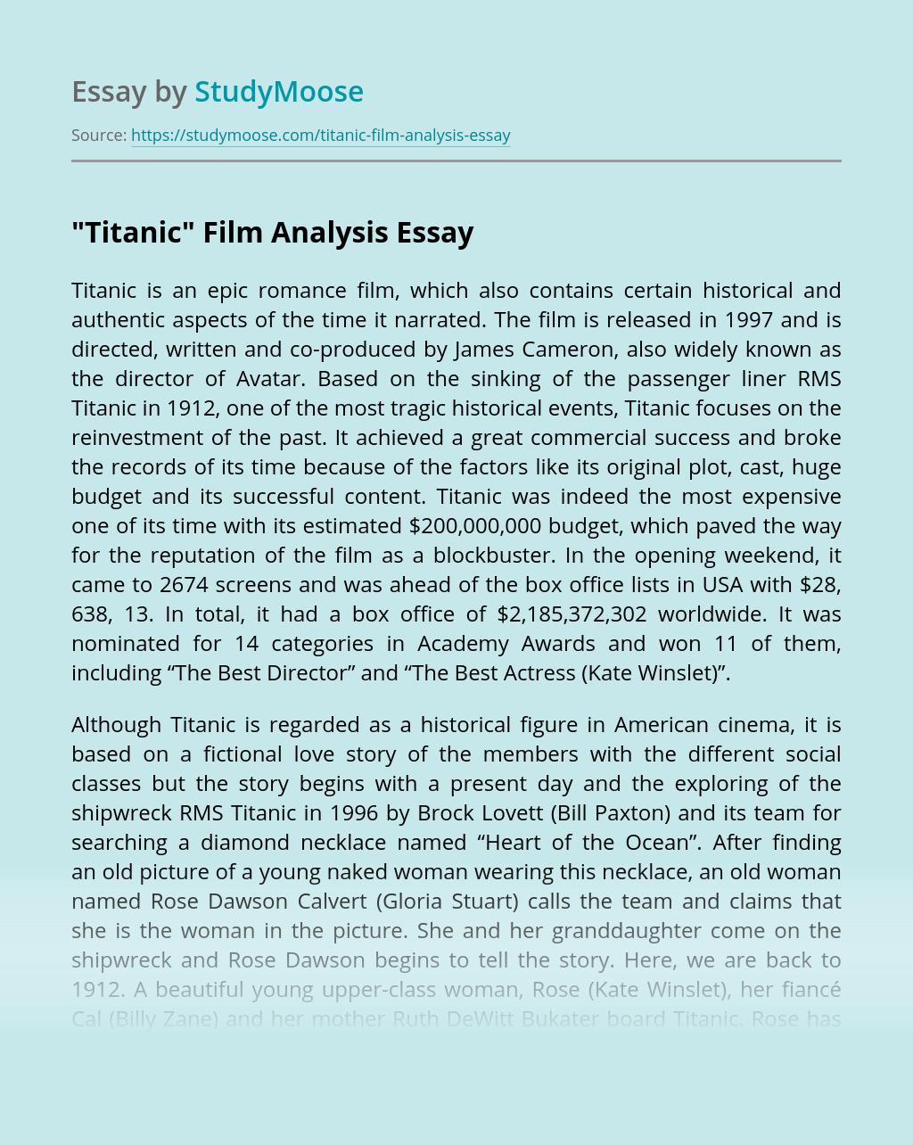 """Titanic"" Film Analysis"