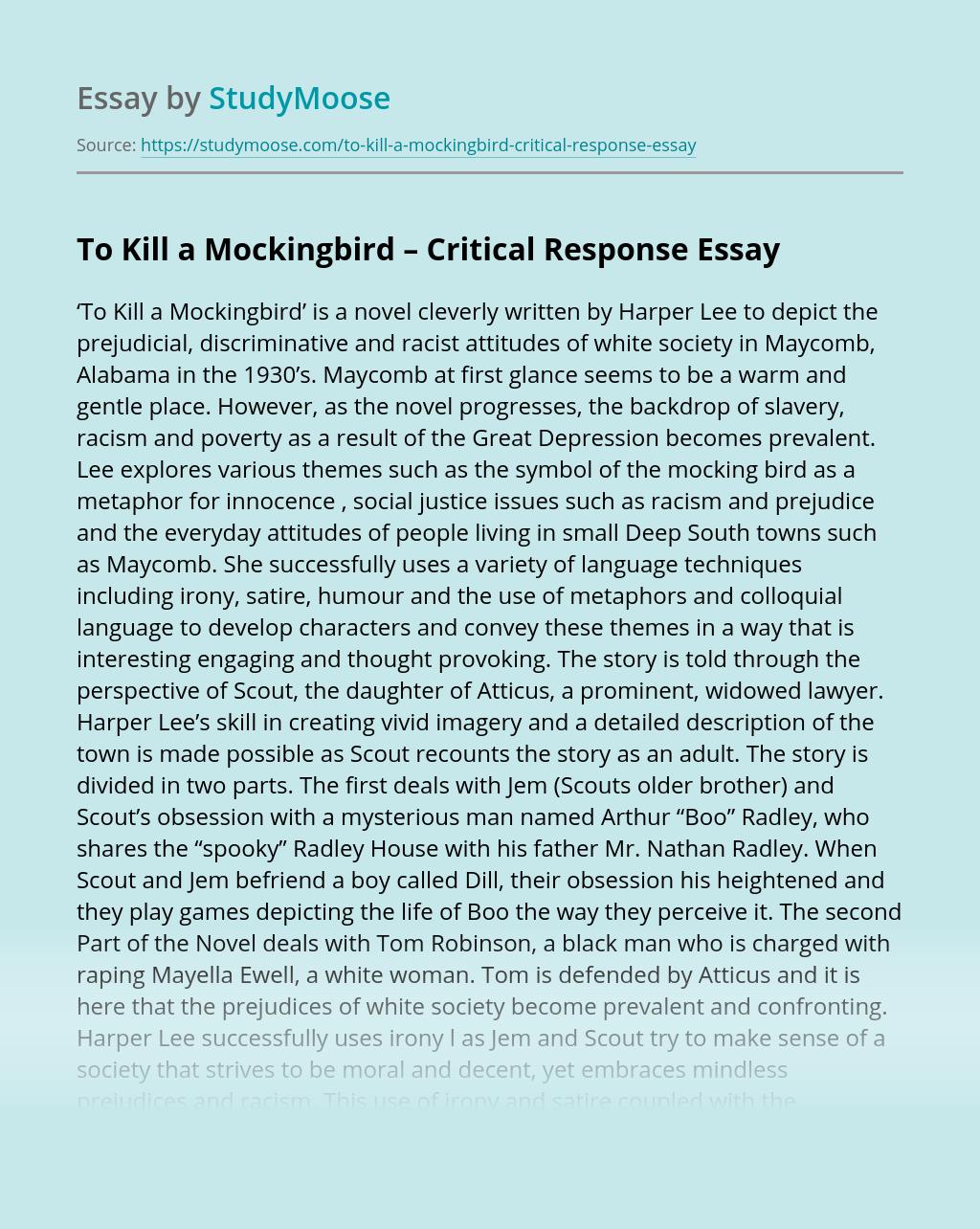 To Kill a Mockingbird – Critical Response