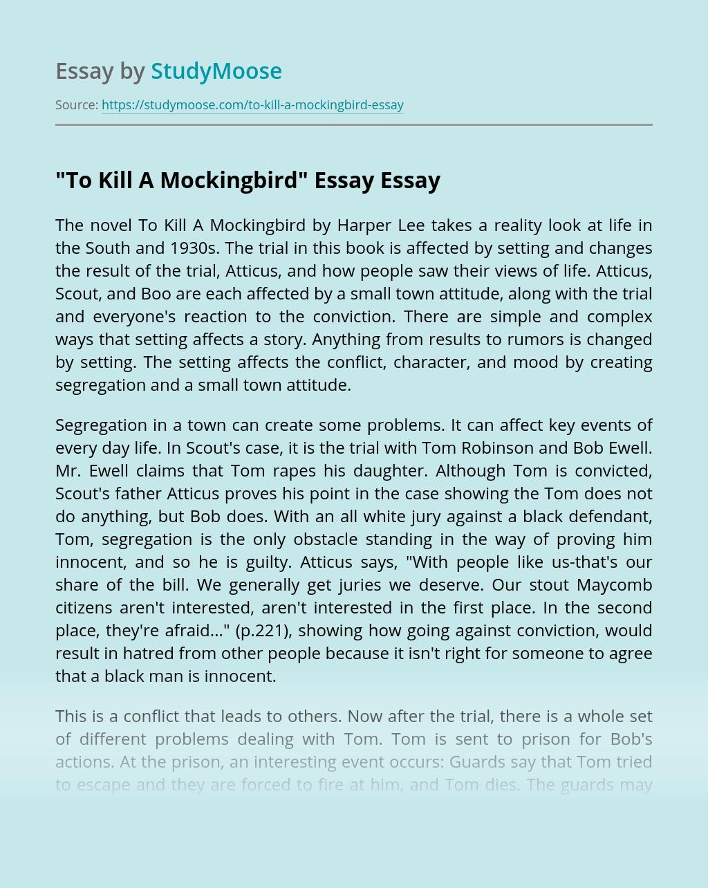 Essay help for to kill a mockingbird
