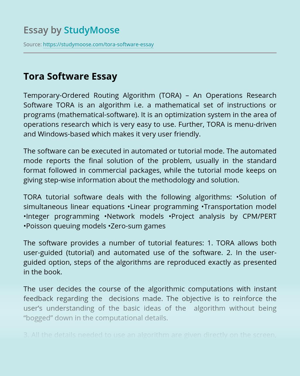 Tora Software