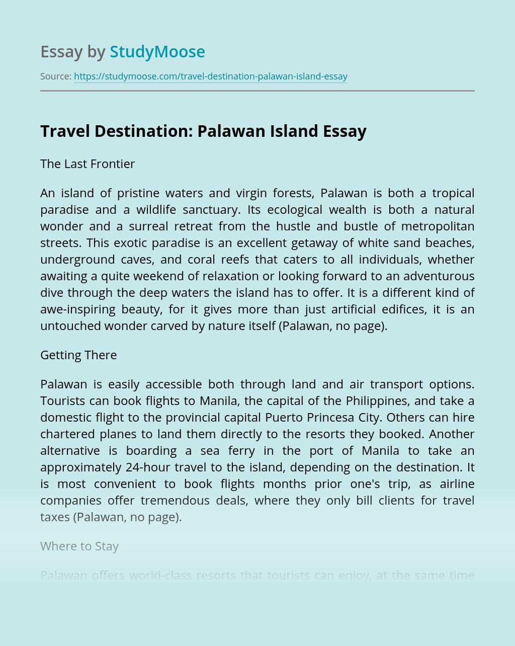 Travel Destination: Palawan Island
