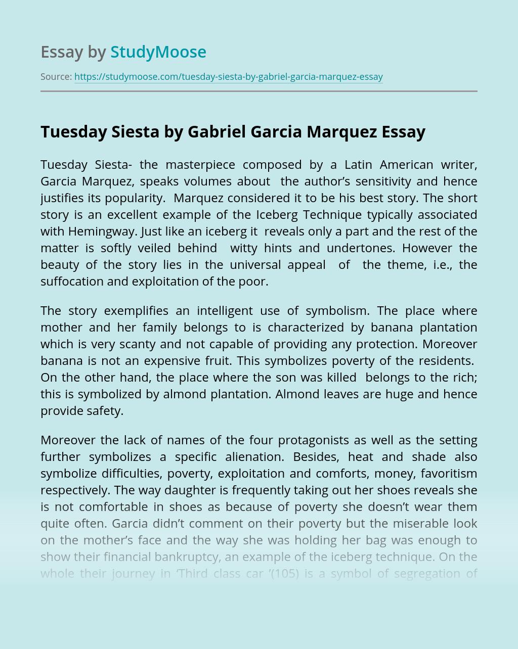 Tuesday Siesta by Gabriel Garcia Marquez