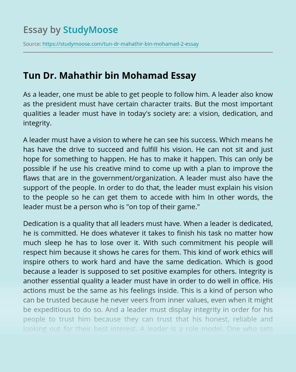 Tun Dr. Mahathir bin Mohamad
