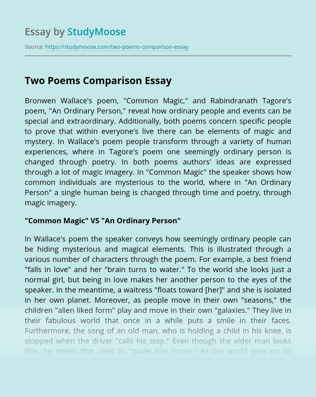 Two Poems Comparison