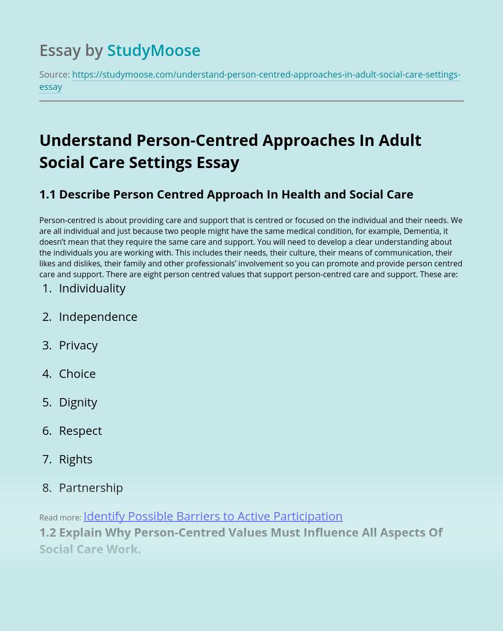 Understand Person-Centred Approaches In Adult Social Care Settings