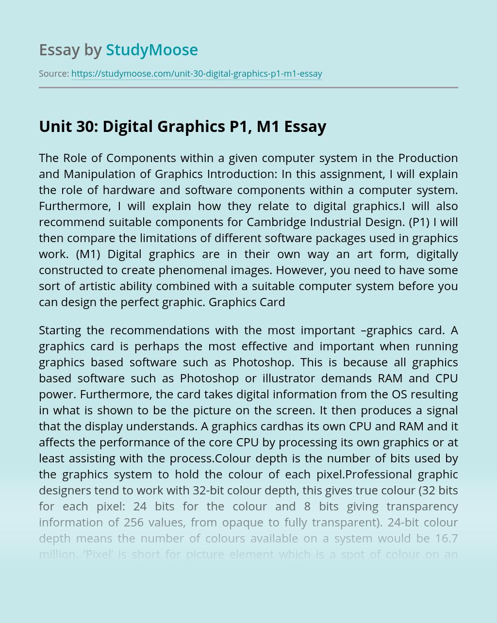 Unit 30: Digital Graphics P1, M1