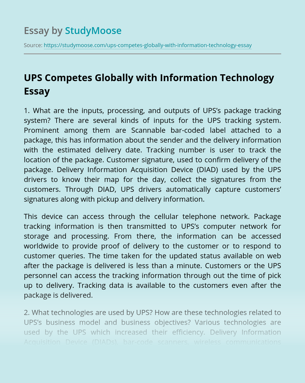 Essay on Technology: 3 Selected Essays on Technology