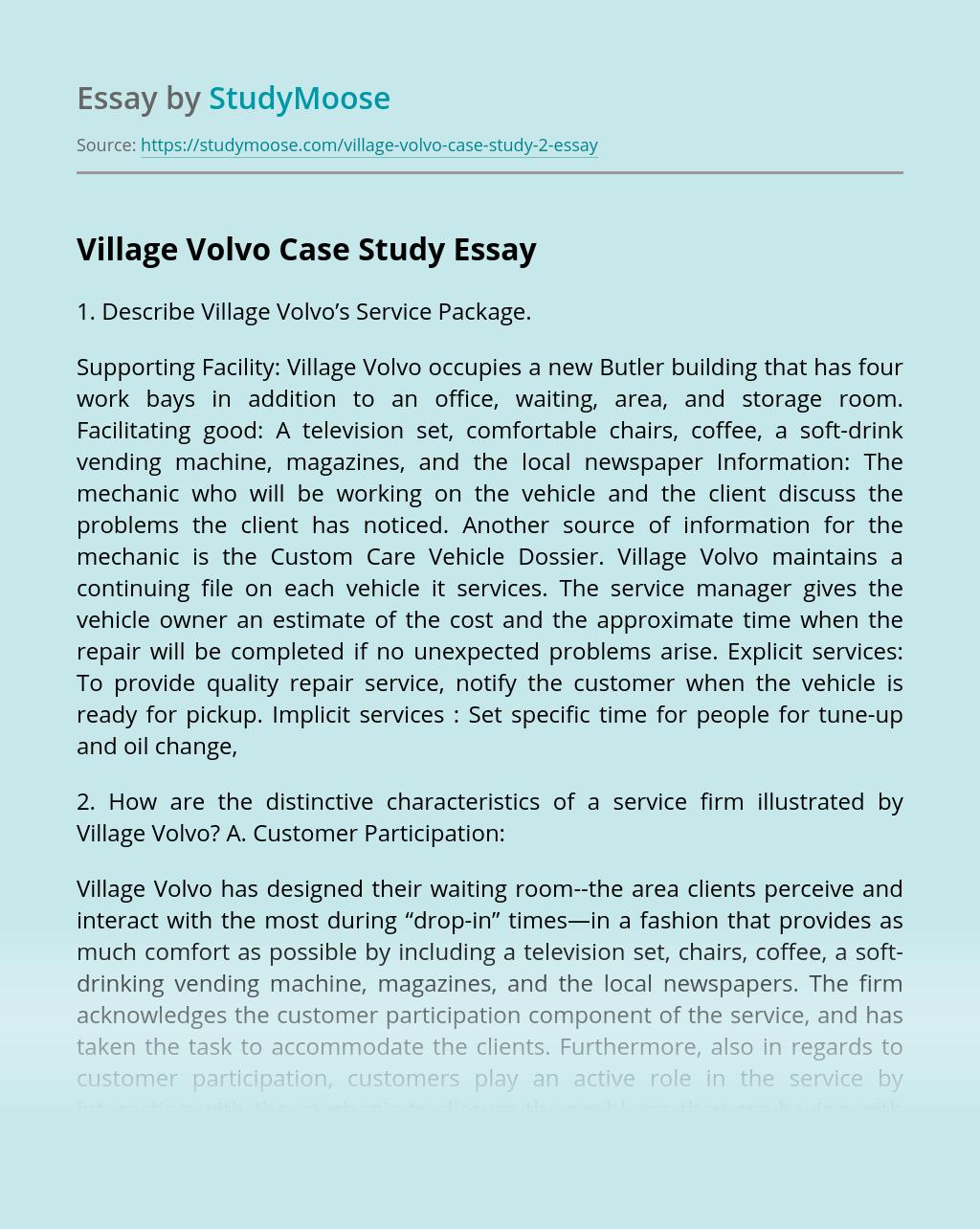 Village Volvo Case Study