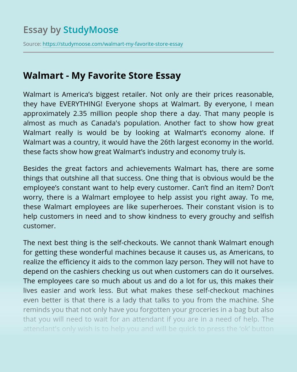 Walmart – My Favorite Store