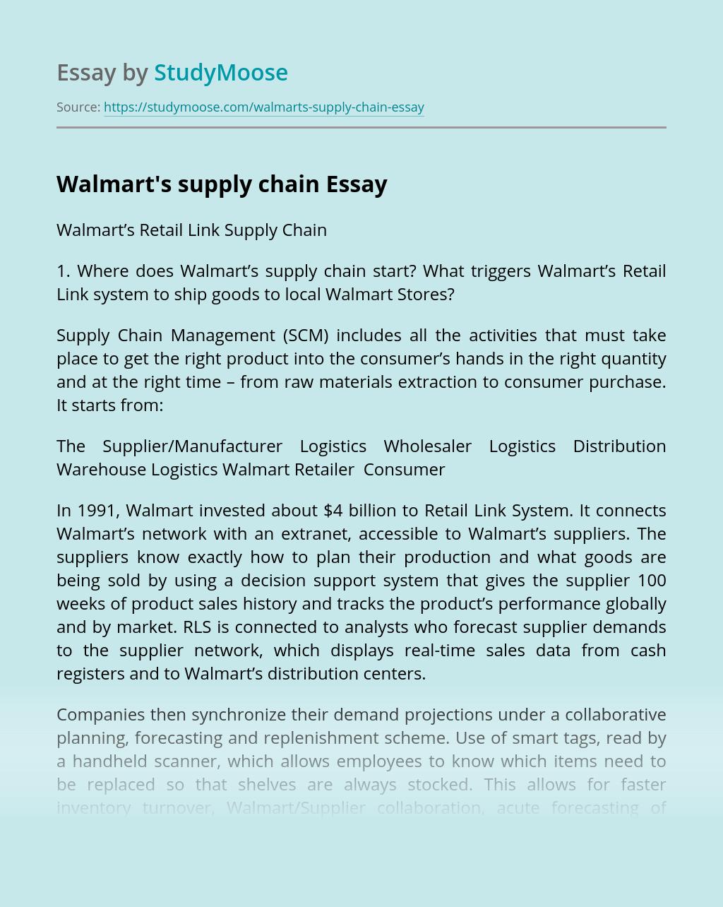Walmart's supply chain