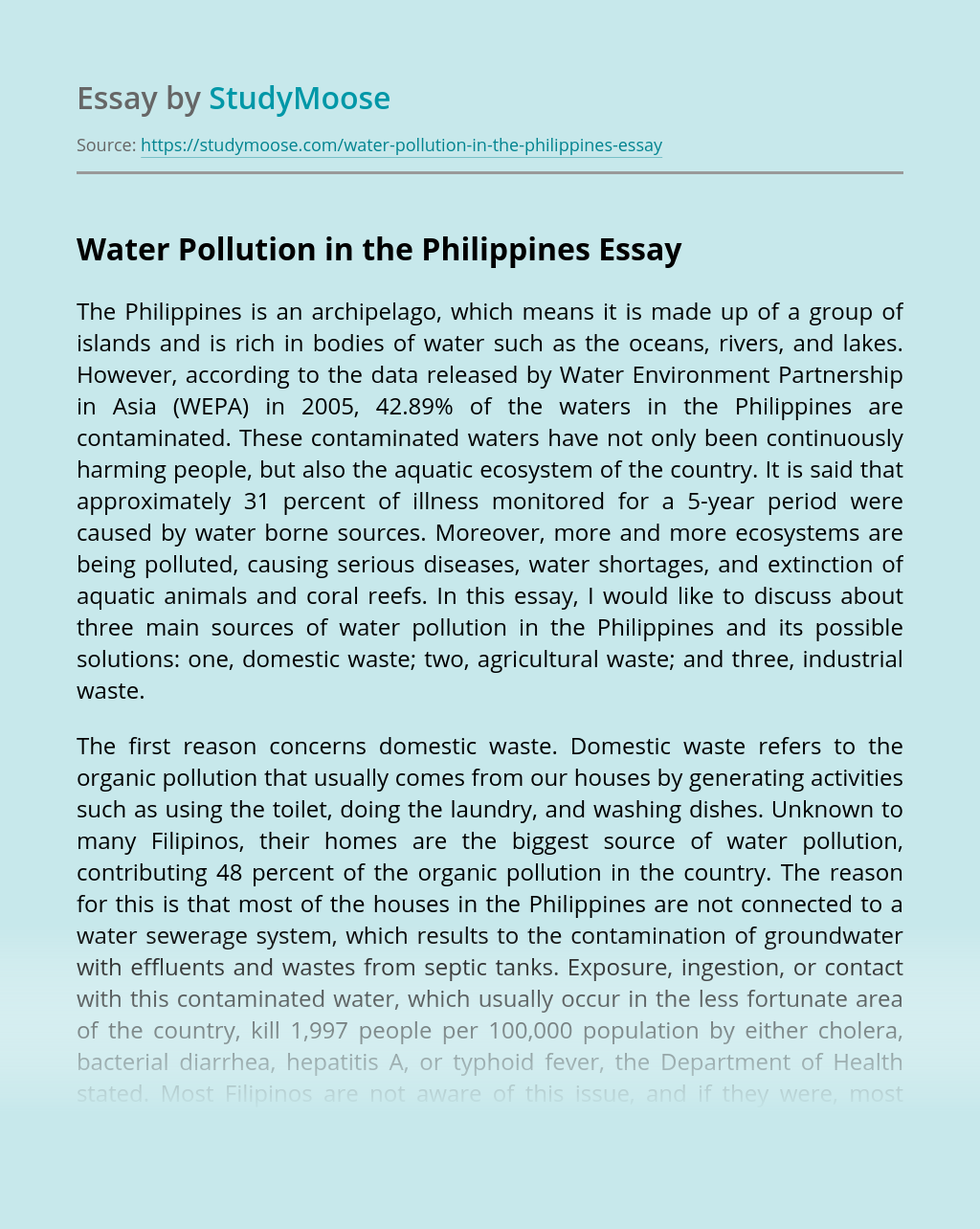 Water Pollution in the Philippines