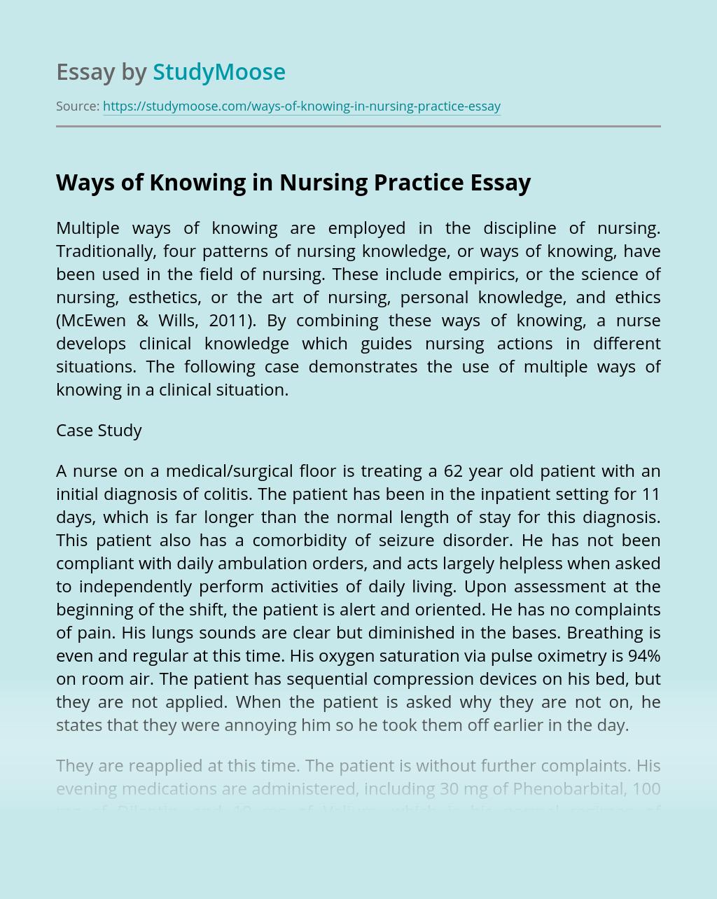 Ways of Knowing in Nursing Practice