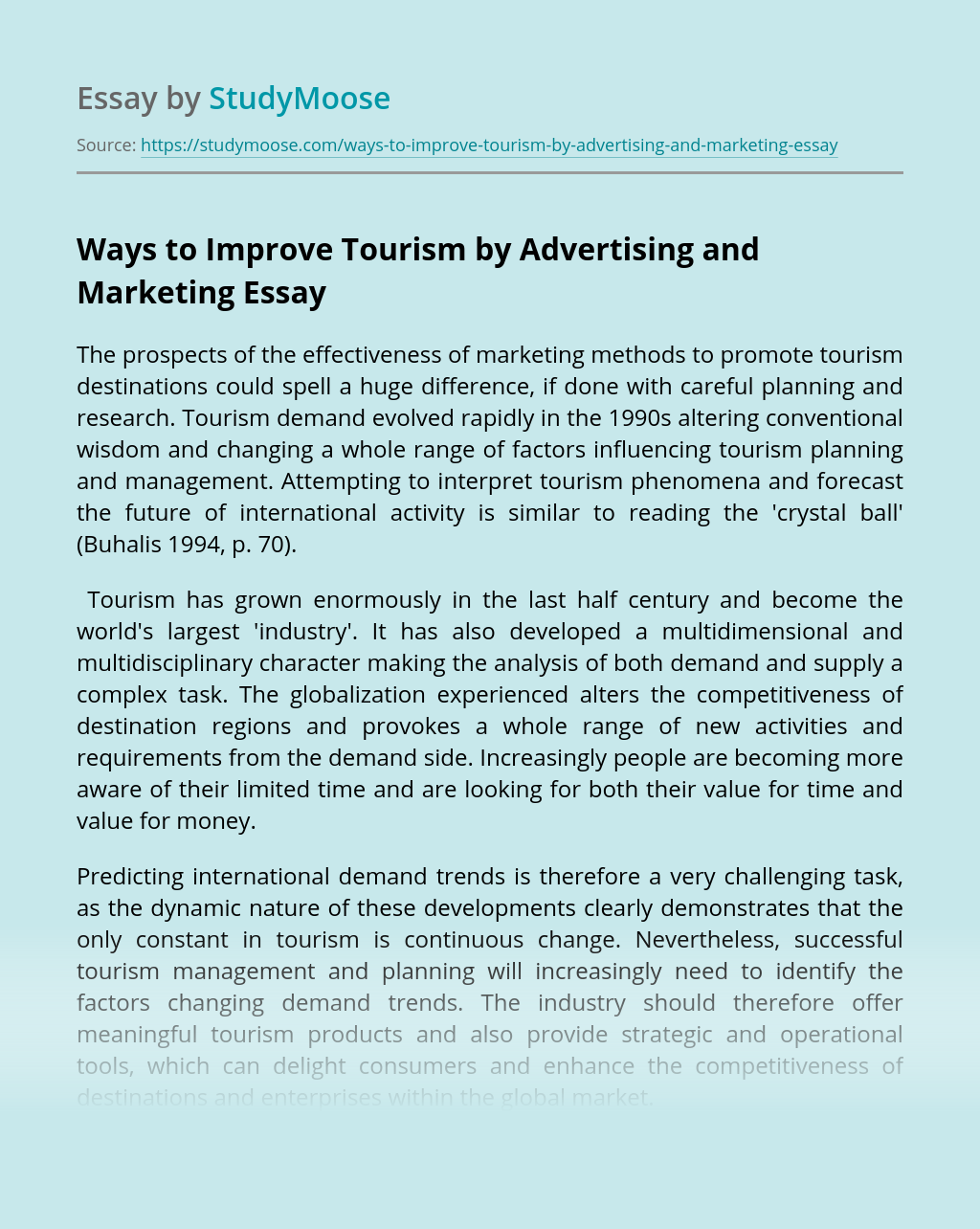 Ways to Improve Tourism by Advertising and Marketing