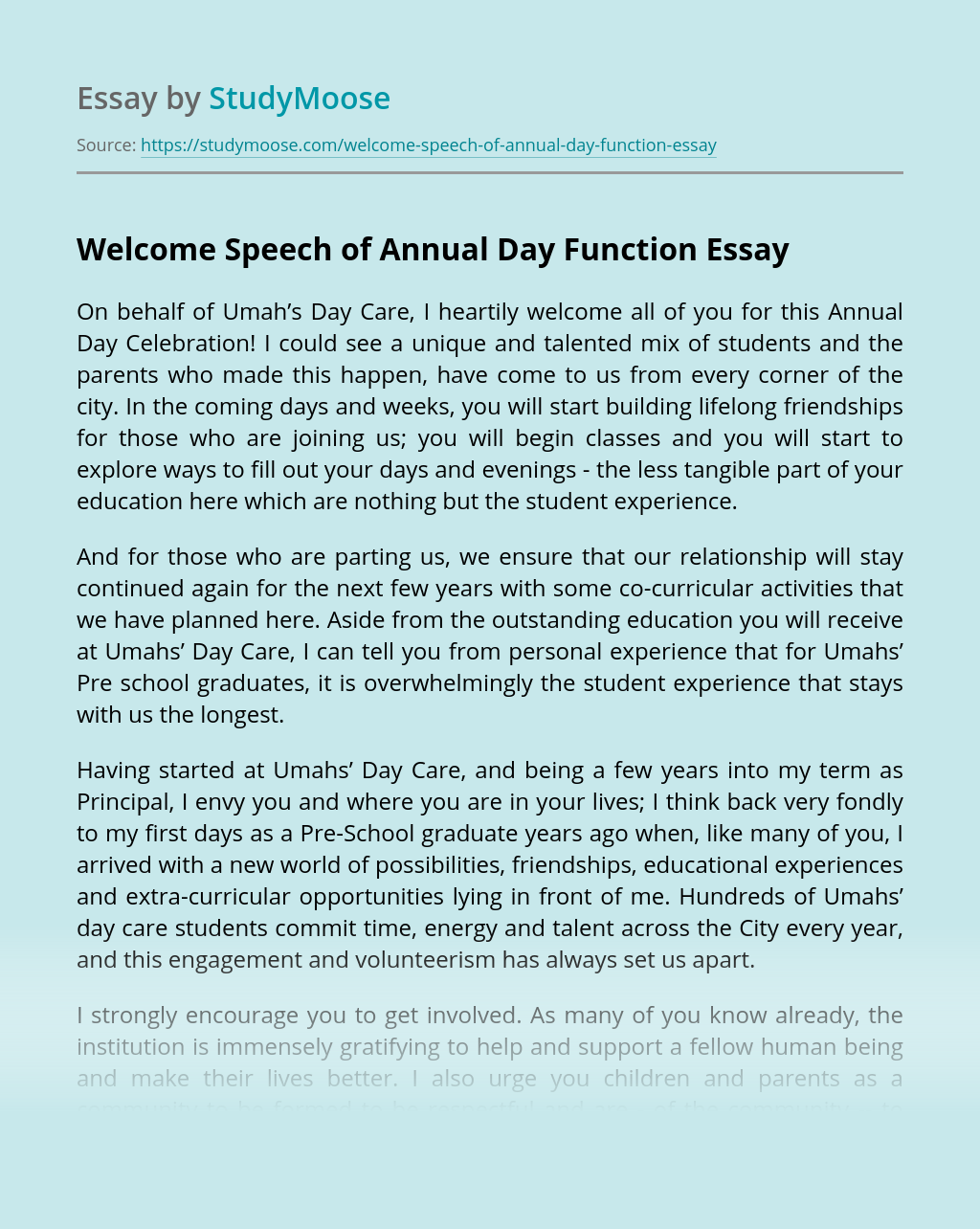 Umahs' Day Care