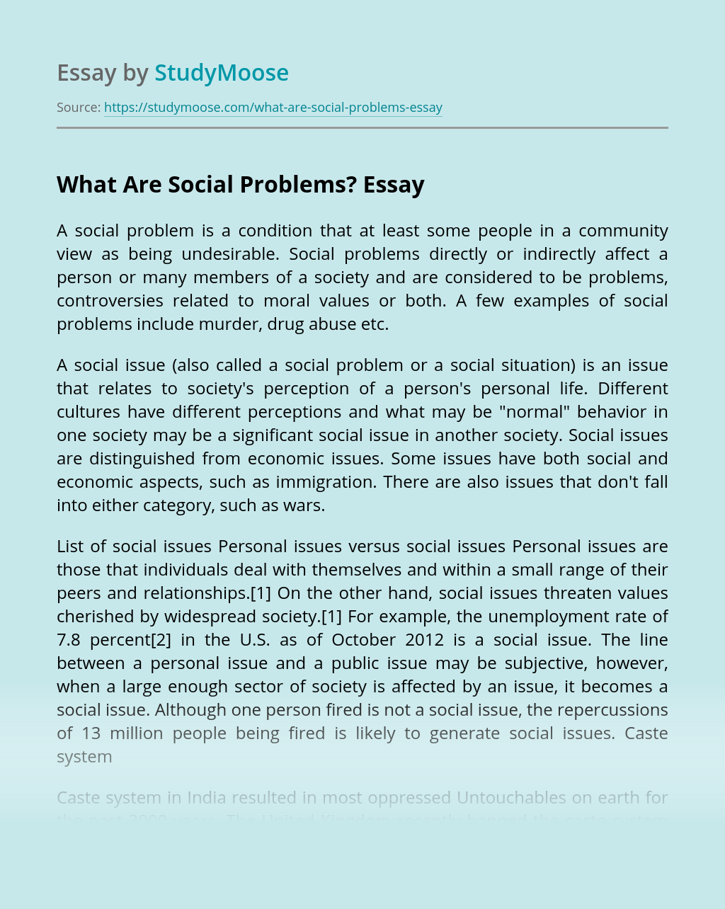 What Are Social Problems?