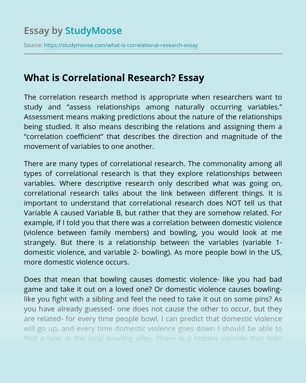 What is Correlational Research?