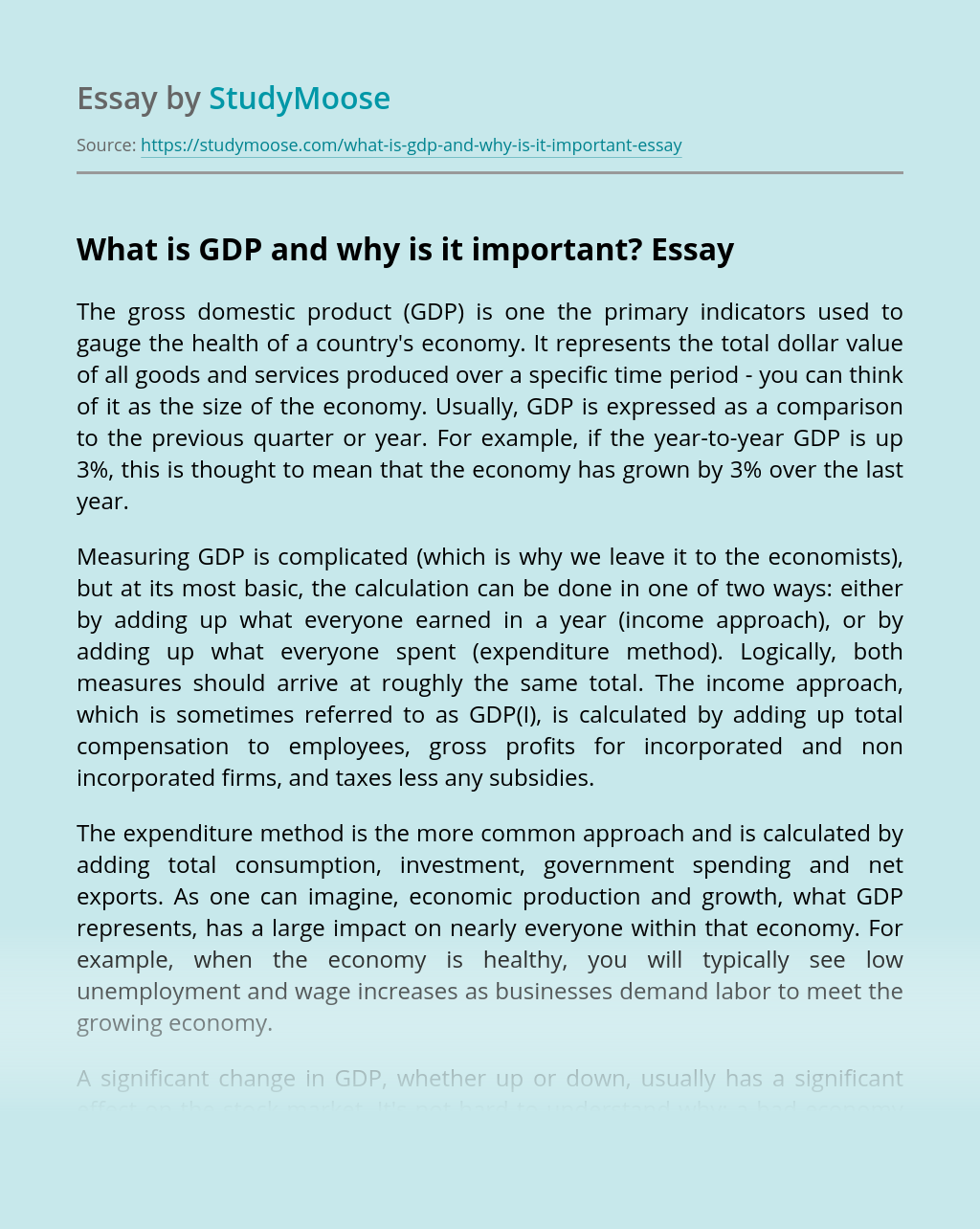 What is GDP and Why is it Important?