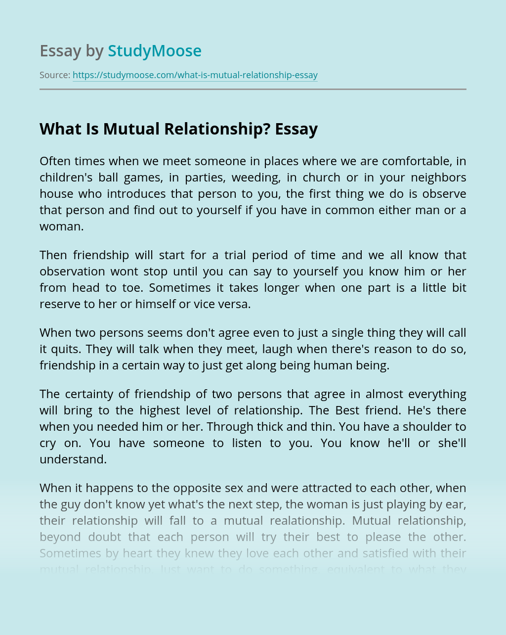 What Is Mutual Relationship?