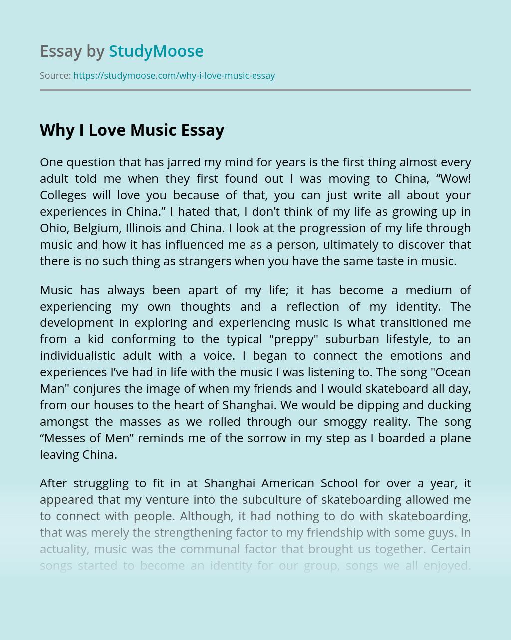 Why I Love Music