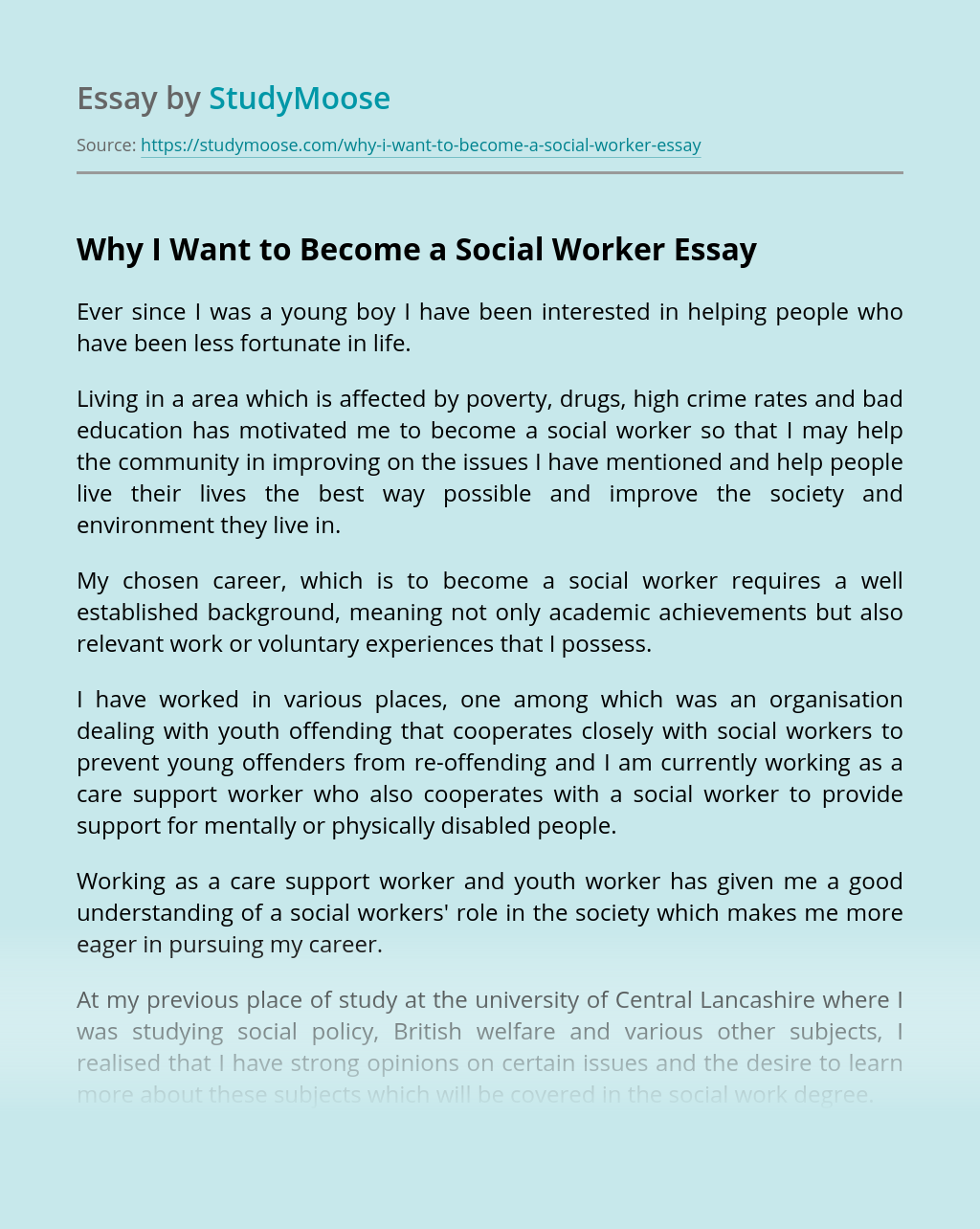 why work essay