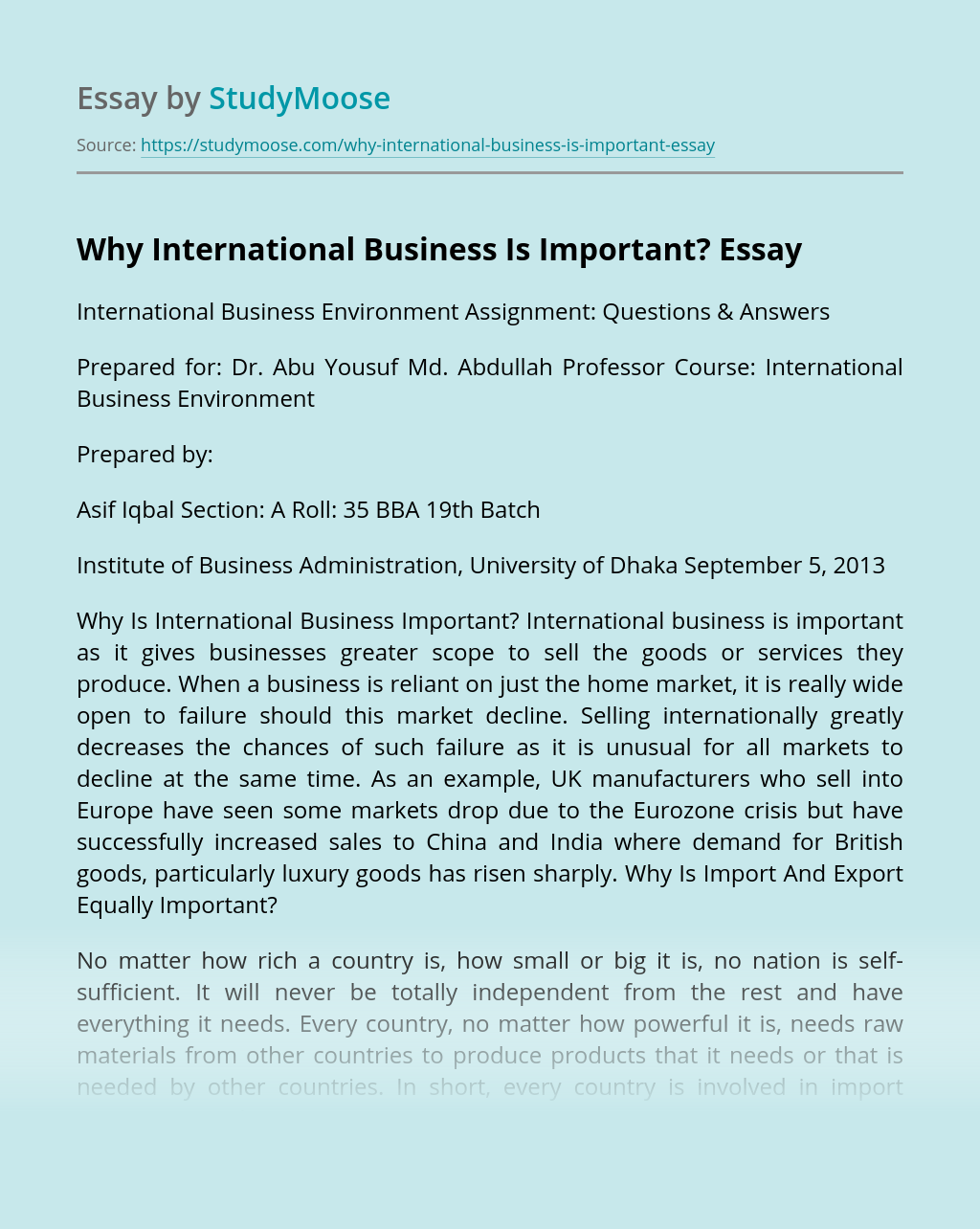 Why International Business Is Important?