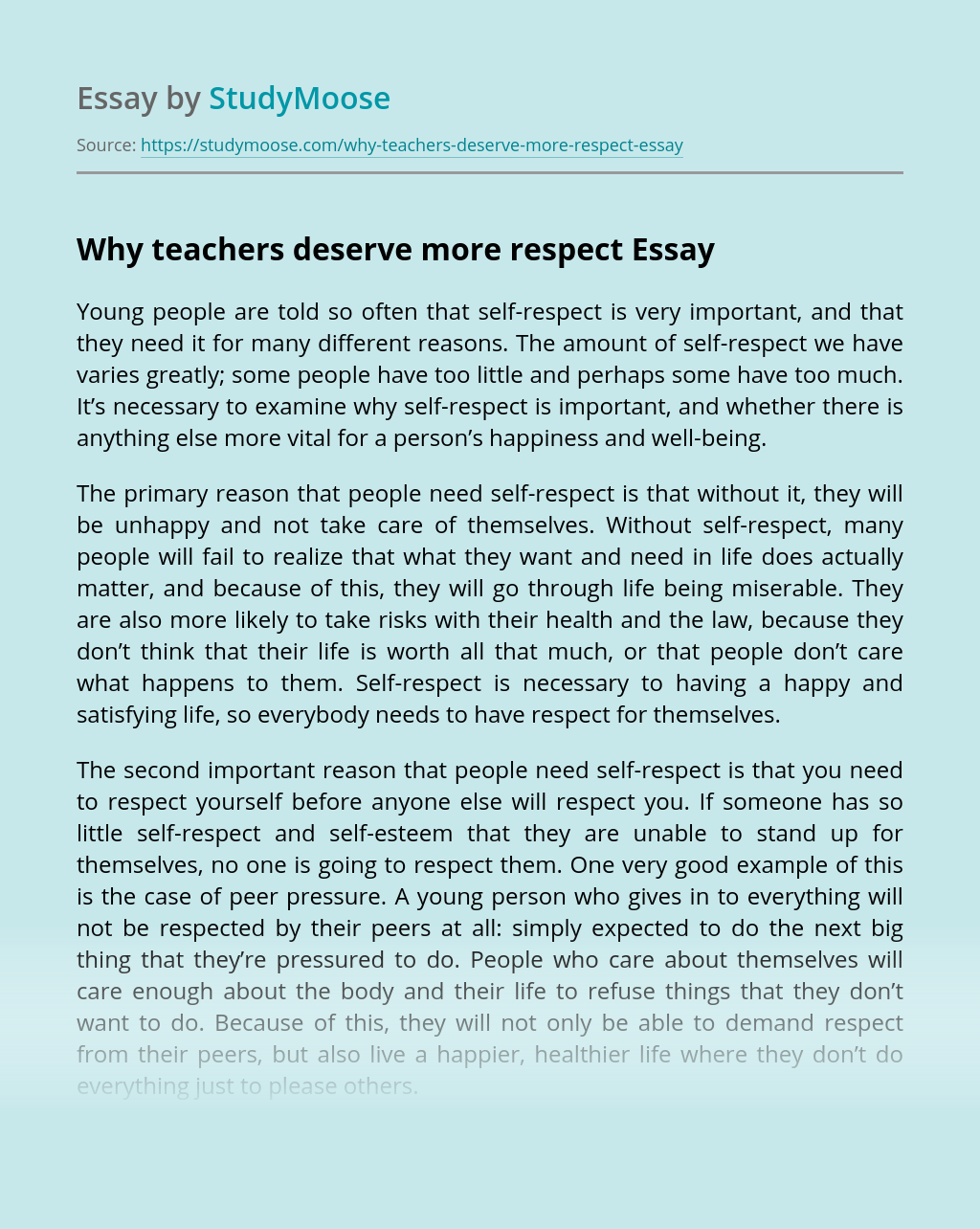 Essay on how to respect your teacher top article proofreading sites online