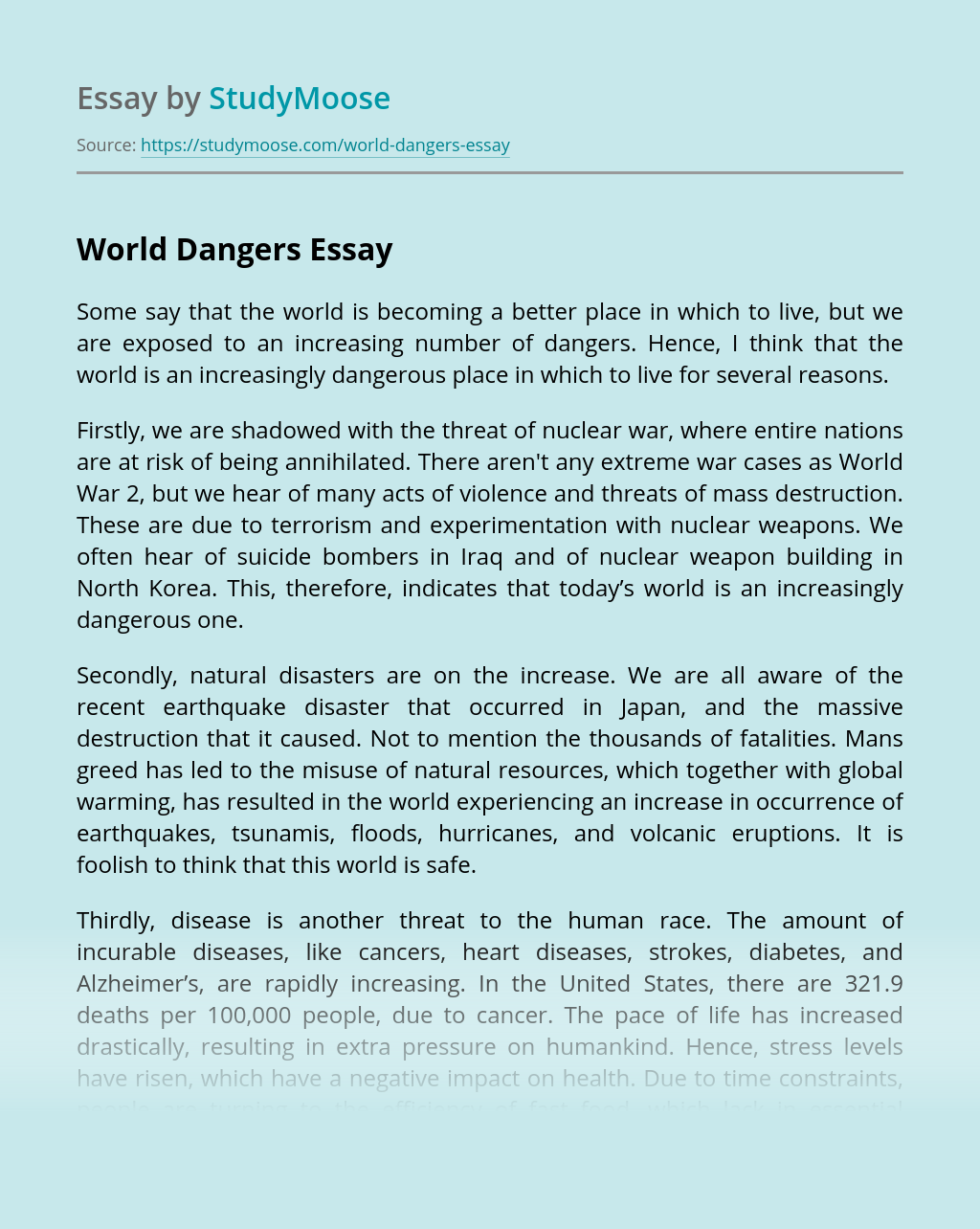World Dangers