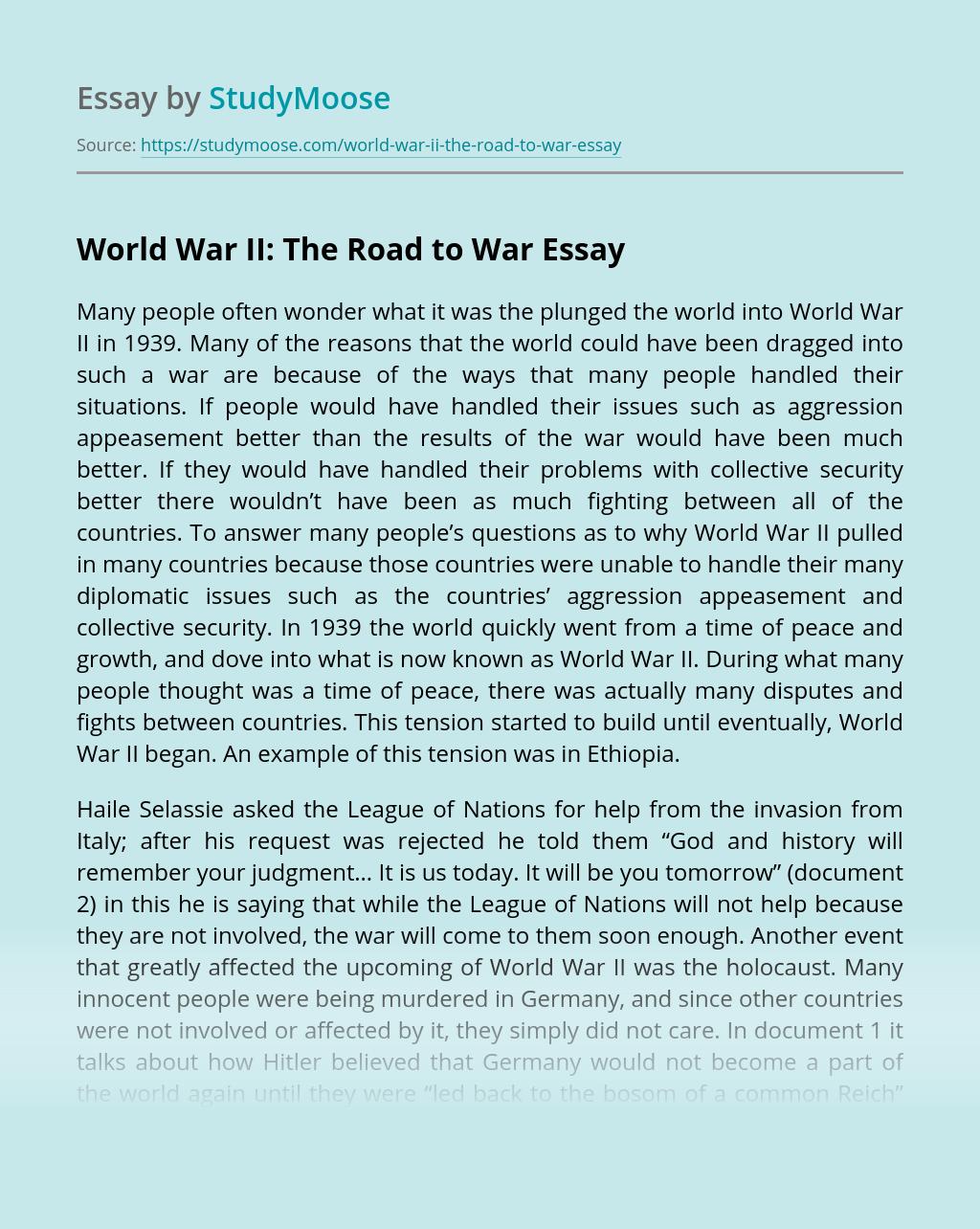 World War II: The Road to War