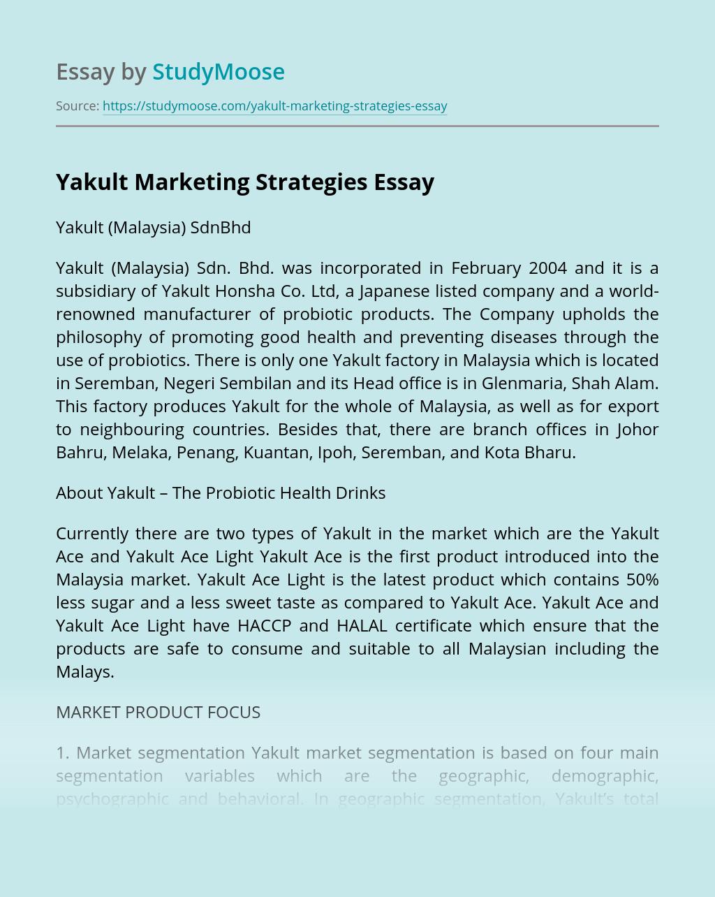 Yakult Marketing Strategies