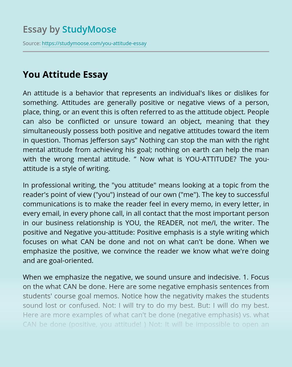 You Attitude