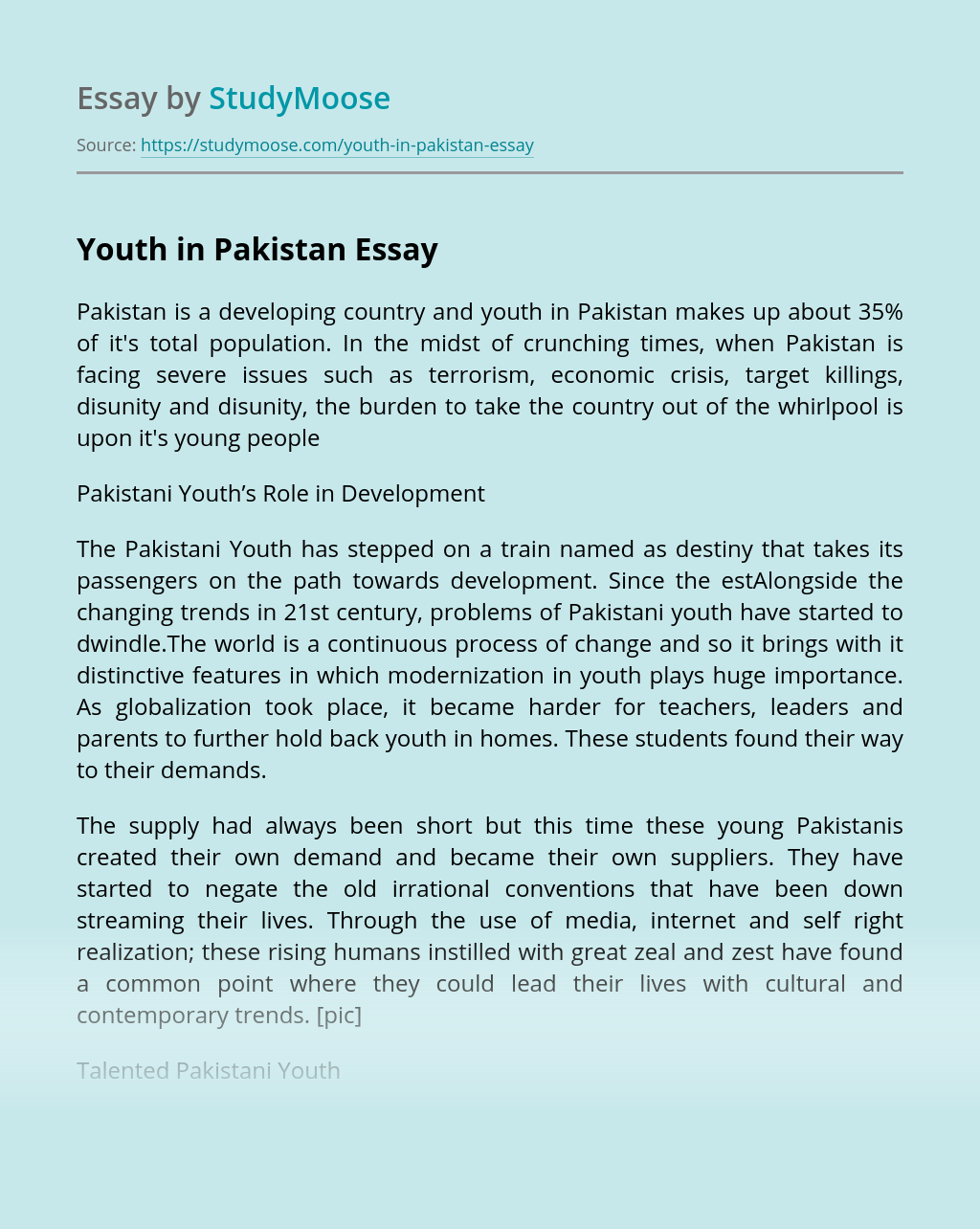 Youth in Pakistan
